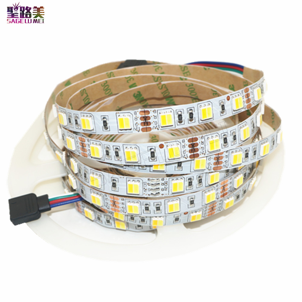 Free shipping 5m/lot DC 12V 2 colors in 1 chip 5050 LED Strip Dual White CW/WW CCT color temperature LED tape Lights ribbon free shipping waterproof ip65 led panel 600x600mm high bright led chips with led driver ww nw cw color temperature aluminum pmma