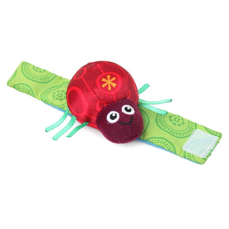 BalleenShiny 2 pcs เด็กของเล่นด้วงผึ้งการ์ตูนข้อมือสร้อยข้อมือ Rattles นาฬิกาข้อมือตุ๊กตาของเล่นเด็กของเล่นเพื่อการศึกษาก่อน