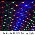 1.5 m x 1.5 m 96 Led 8 modos de 220 V super brilhante malha net seqüência de luz de natal luzes de natal do casamento do feriado de ano novo jardim iluminação