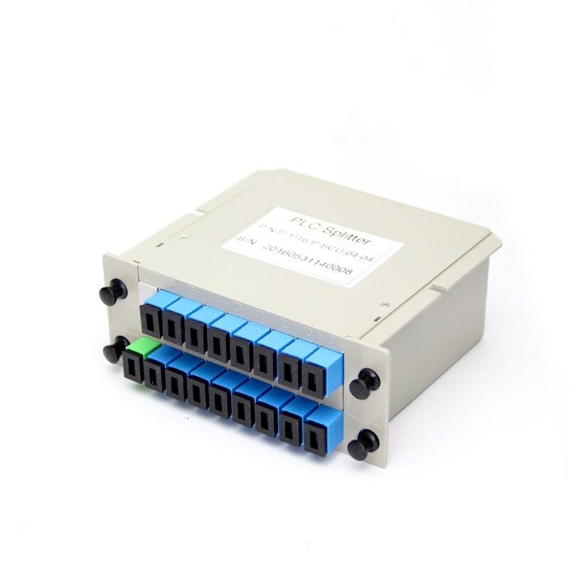 SCUPC PLC Splitter 1X16 Fiber Optical Box FTTH PLC Splitter box with SC Connector Optical splitter