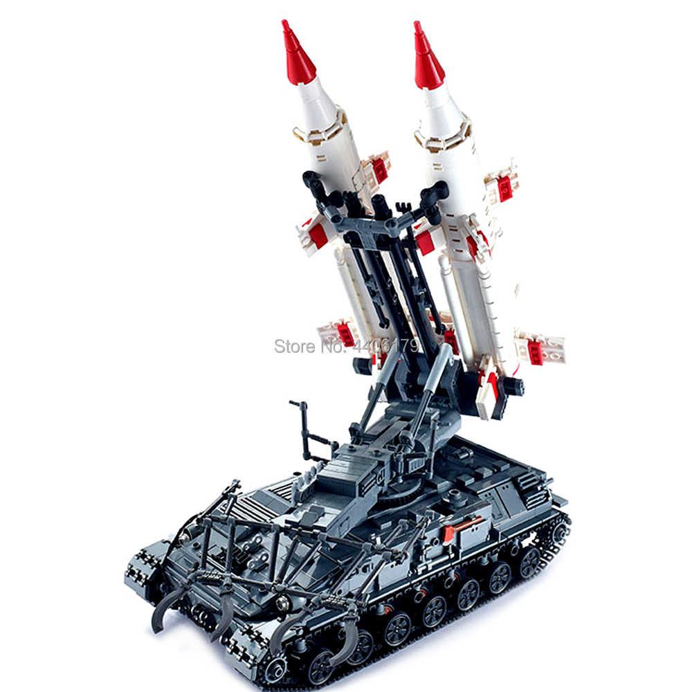 hot LegoINGlys military weapon war WW2 Soviet Union army Heavy tank Sam missile launcher Building Blocks MOC model bricks toys