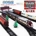 9.4 М Поезд Модель железной дороги 1/87 старинный паровоз tank truck пассажирский поезд соберите транспорт для детей игрушки подарок