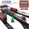 9.4 M Modelo de Tren ferroviario manera 1/87 tren de Vapor de época camión cisterna de transporte de trenes de pasajeros de montar niños juguetes de regalo