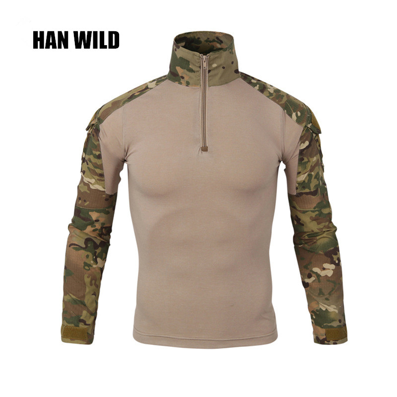 Han Wild Gear Camouflage Army T-shirt Men Ru Soldiers Combat Tactical T Shirt Military Force Multicam Camo Long Sleeve T Shirt Orologi E Gioielli