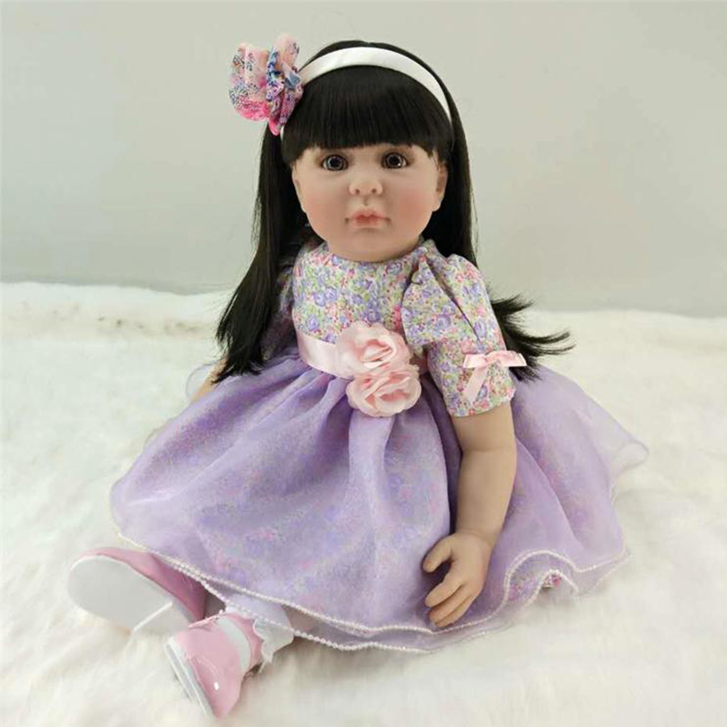 2017 Fashion Silicone Reborn Dolls Body Soft Baby Princess Doll for Girl Reborn Child Gifts Newborn Babies Early Education Toy christmas gifts in europe and america early education full body silicone doll reborn babies brinquedo lifelike rb16 11h10
