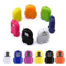 Etmakit  Phone Adapter Multi-color Option Robot Shape Android Micro USB To USB2.0 Converter General OTG Adapter For Phones