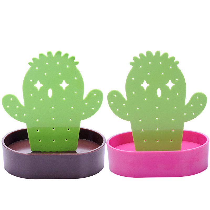 2018 Hot Sale Fashion Women Jewelry Cactus Shape Earring Necklace Bracelet Display Stand Organizer Holder Have 2 Colors Optional