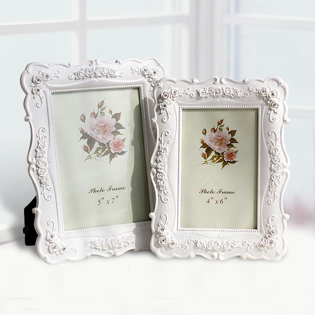 6 7 8 10 Photo Frame Resin White Table Rose Garden Picture