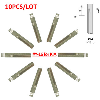 Free shipping (10 pcs/lot)Metal Blank Uncut Flip KD Remote Key Blade Type #16 for Kia - sale item Security Alarm