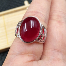 Amber beeswax amber yellow ring live mouth adjustment plated 925 silver men and women jewelry fashion gifts