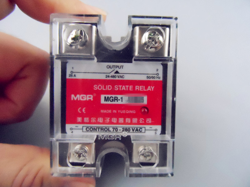 Mager  SSR 60A  AC-AC Solid state relay  Quality Goods MGR-1 A4860A high quality ac ac 80 250v 24 380v 60a 4 screw terminal 1 phase solid state relay w heatsink