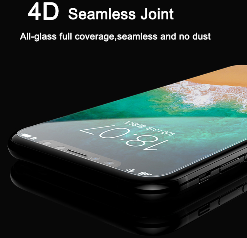 Artisome 0.2mm Tempered Glass For iPhone X Screen Protector Full Cover 4D Film Screen Protector For iPhone X 10 Glass            (3)