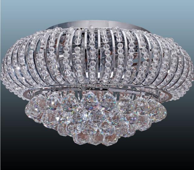 Superb Special Sale Modern Flush Mount Crystal Chandelier With 5 Light Dia38CM