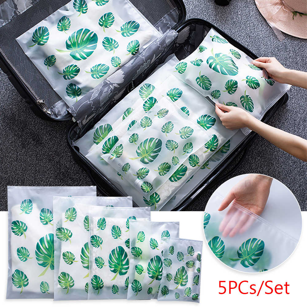5PCs Waterproof Clothes Underwear Sorting Bag Travel Shoes Bag luggage Organizer Women Zipper Make Up Organizer Storage Pouch