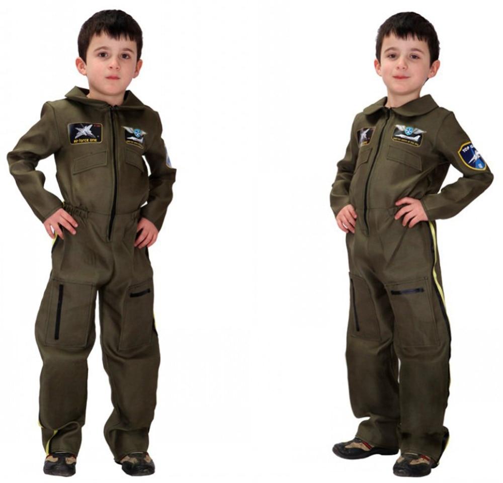 Army Boys Soldier Jumpsuit Role Play Military Uniform Halloween Costumes Set недорго, оригинальная цена