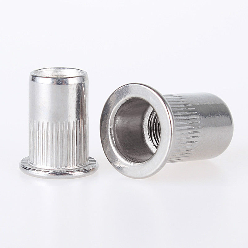 цена на 20Pcs M3 M4 M5 M6 M8 Aluminum Alloy Rivnut Flat Head Threaded Rivet Insert Nutsert Cap Rivet Nut