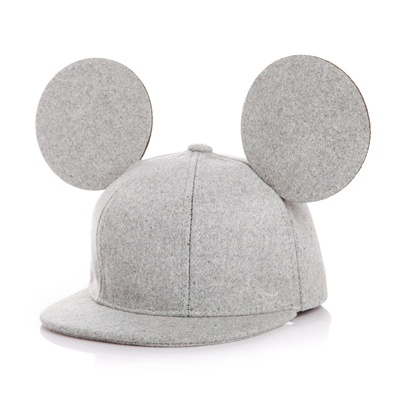 So Cute!!New 2016 Solid Color Big Ears Snapback Hat Child Hat Unisex Baby Cap For Boy Cap Girl Hat Baby Drop Shipping