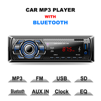 1 Pc 12V Car Radio Stereo Player Bluetooth Phone AUX IN MP3 FM USB 1 Din
