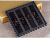 TOP Quality Hand Made Rosewood Chinese Bookmark Bookmarks Vintage Design Buddhism Finger Set Book Markers