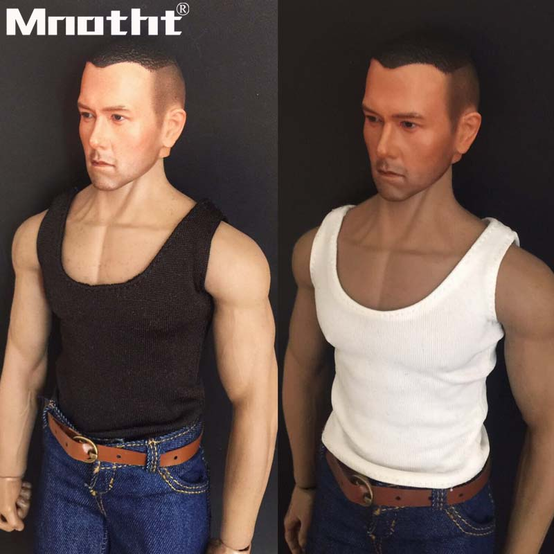 1:6 Scale Male White Underwear /& Vest For 12inch Action Figure Hot Toys