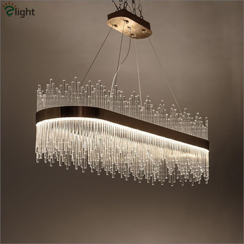 Post Modern Luxury Crystal Led Pendant Light Lustre Gold Luminaires Dining Room Oval Pendant Lamp Hanging Lamp Suspend Lamp fashion luxury hexagon crystal pendant lamp creative dining room hanging light foyer cord suspend lighting
