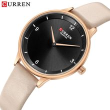 CURREN Fashion light Slim Quartz Watches Women Top Brand Casual Clock Ladies Wrist Watch with Leather Strap Relogio Feminino New(China)