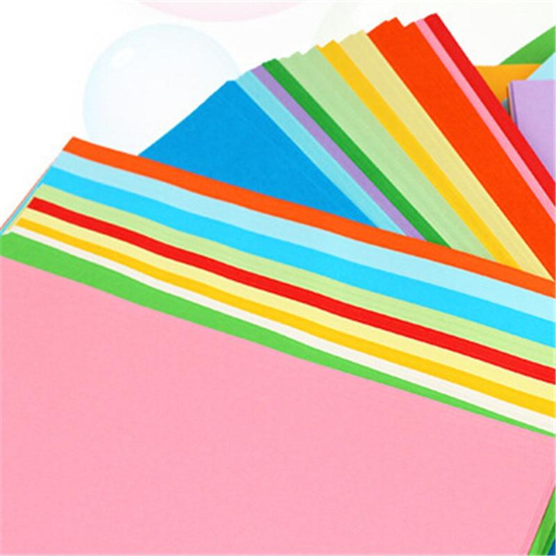 100 шт 10X10 см Разноцветные квадратные Двухсторонние цветные крафт-бумаги DIY Детский подарок складные бумажные украшения для вечеринки ручной работы