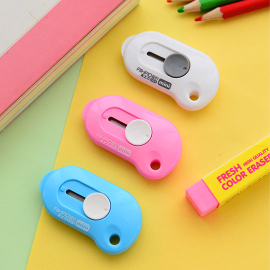 5 Pcs/lot New Lovely Simple Utility Knife Small Knife Students Office Stationery Portable Hand Knife Paper Knife