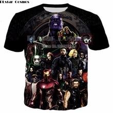PLstar Cosmos Comic Marvel Avengers T Shirt Men Superhero Captain America Spider Man Iron Tshirt Summer Tee