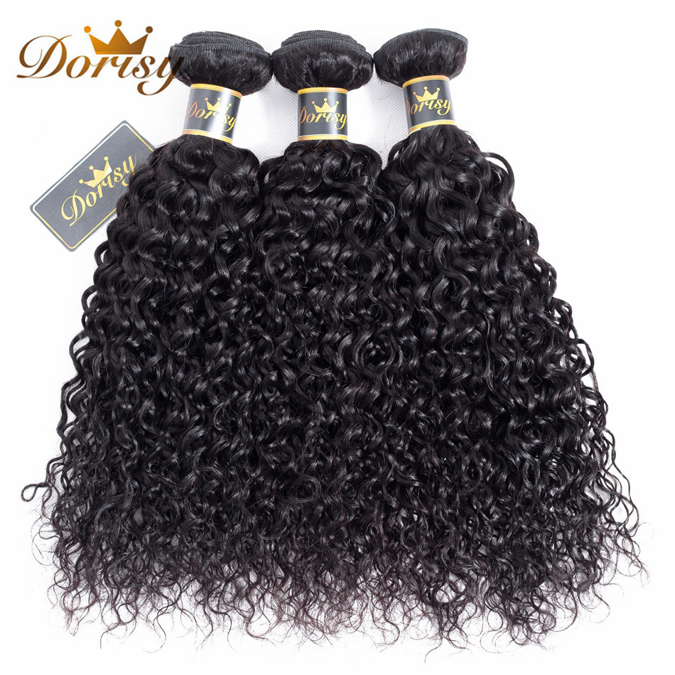 Dorisy Hair Pre-Colored 100% Human Malaysian Kinky Curly Hair Bundles 3 Bundles Natural Color Non Remy Hair Weave Extensions