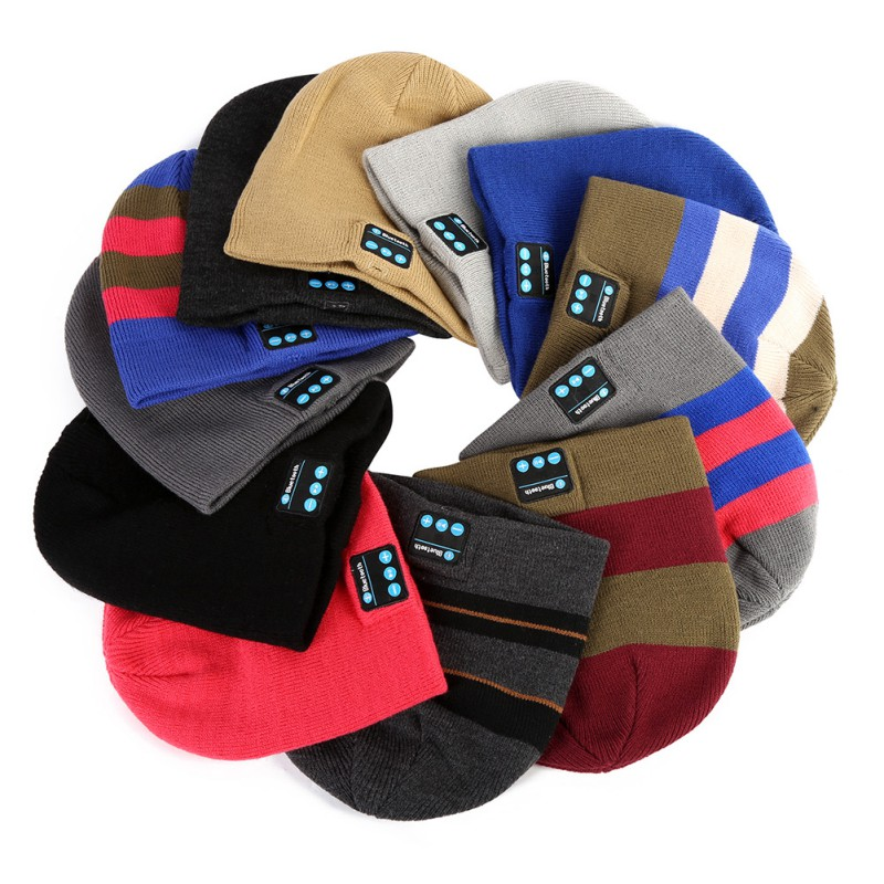 New Hot Smart Warm Soft Casual Hat Wireless Bluetooth Cap Headphone Headset Speaker Unis ...