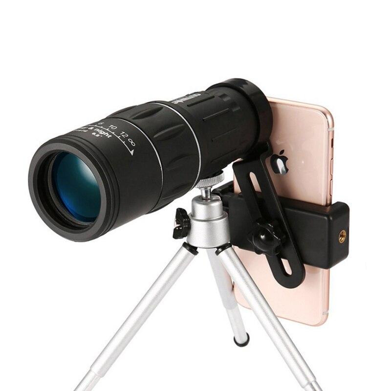 Fabrik Direkt Verkauf Teleskop 16x52 Einzelnen Teleskop Hohe Multiply HD Niedrigen Licht Visuelle Telefon Foto Teleskop