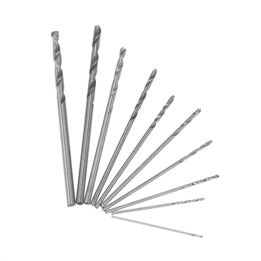 Mini Micro  High Speed Steel Twist Drill Bit Set Model Craft With Case LJ