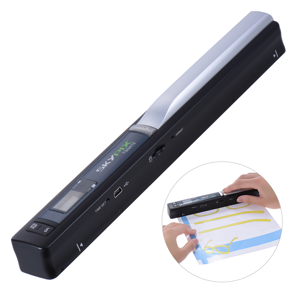 TSN410 Portable Handheld Mobile Color Scanner Handyscan 900dpi Driver-free for Document Photo receipt Book Magzine l1000 portable hd 10mp 3672x2856 usb camera photo image document book a3 a4 scanner visual presenter high speed ocr scanner a3
