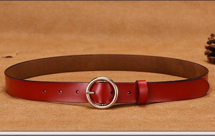 NO. ONEPAUL Дамский кожаный ремень аксессуары хипстерские повседневные пряжки украшение Модный популярный винтажный сплав с круглой пряжкой