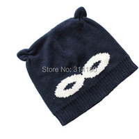 Tou Baby Girls And Boys Hats Infant Eye Pattern Knitted Caps Cute Ear Model Beanie Hat