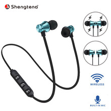 Shengtena Wireless Earphone Magnetic attraction Bluetooth Earphone Headset waterproof sports 4.2 with Charging Cable Storage Box magnetic music bluetooth 4 2 earphone sport running wireless bluetooth headset with charging cable young earphones