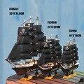 Modelo do navio de pirata, artigos de decoração para casa, escultura em madeira artesanato, casa do Mediterrâneo. presentes
