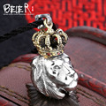 Beier 925 silver sterling tiger pendant necklace Domineering animal  pendant  fashion jewelry  A1653