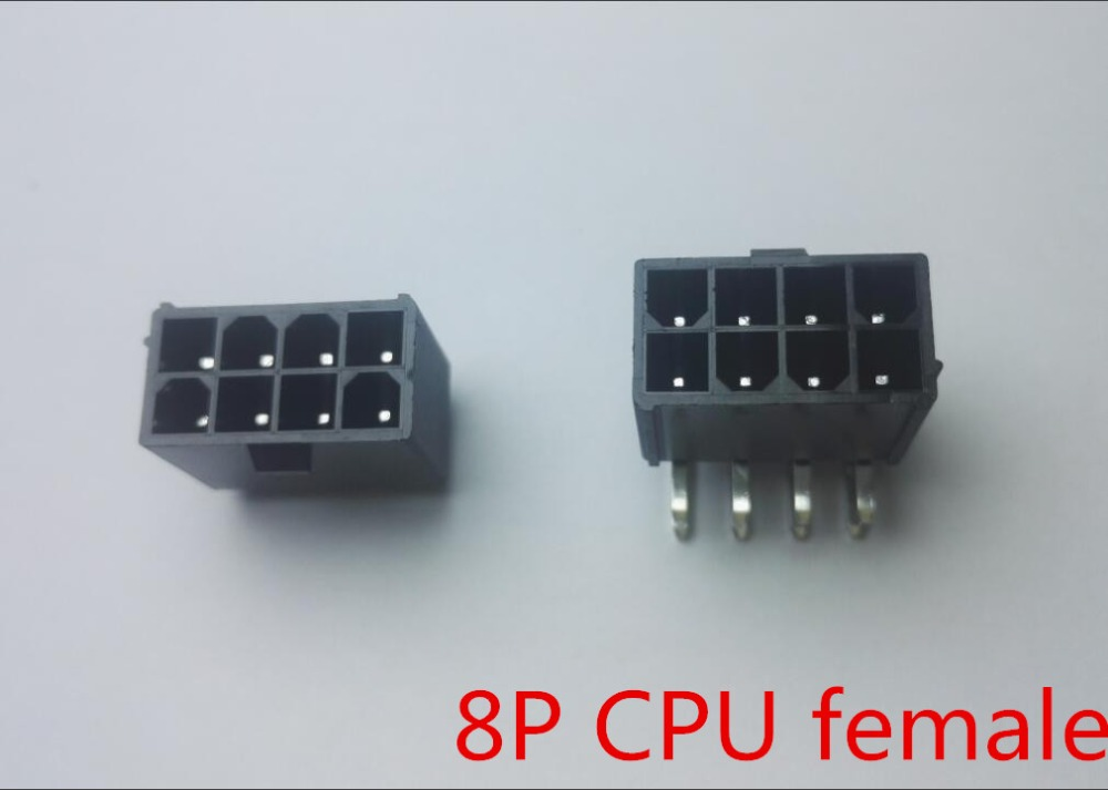 5559 4.2mm black 8P 8PIN female needle socket Straight or Curved needle for PC computer ATX CPU Power connector
