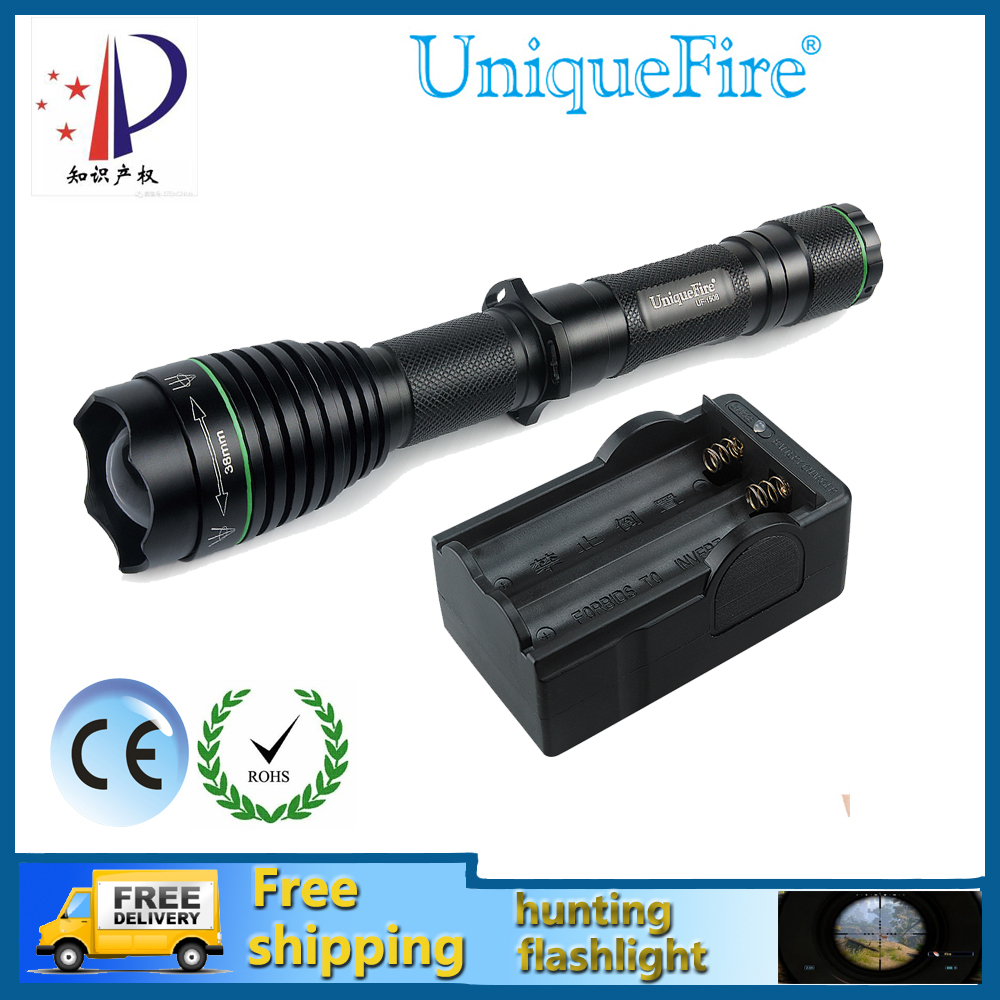 UniqueFire 1508-38mm IR 850nm LED Flashlight 38MM Lens Infrared Light Night Vision Flashlight Torch+Two Slot Charger For Hunting hot sale uniquefire t20 ir 850nm mini led flashlight fit for ir device 38mm lens torch lantern charger