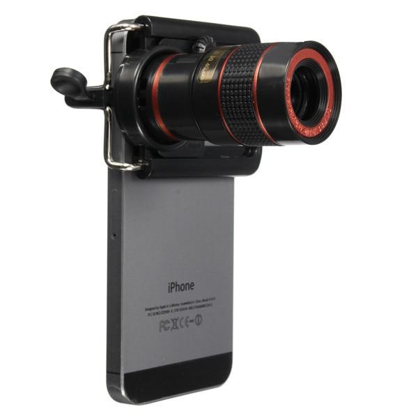 High Quality 8X Zoom Telephoto Lenses Optical Telescope Camera Lens With Clips For Xiaomi redmi 2 3 4Samsung Nokia Meizu Huawei
