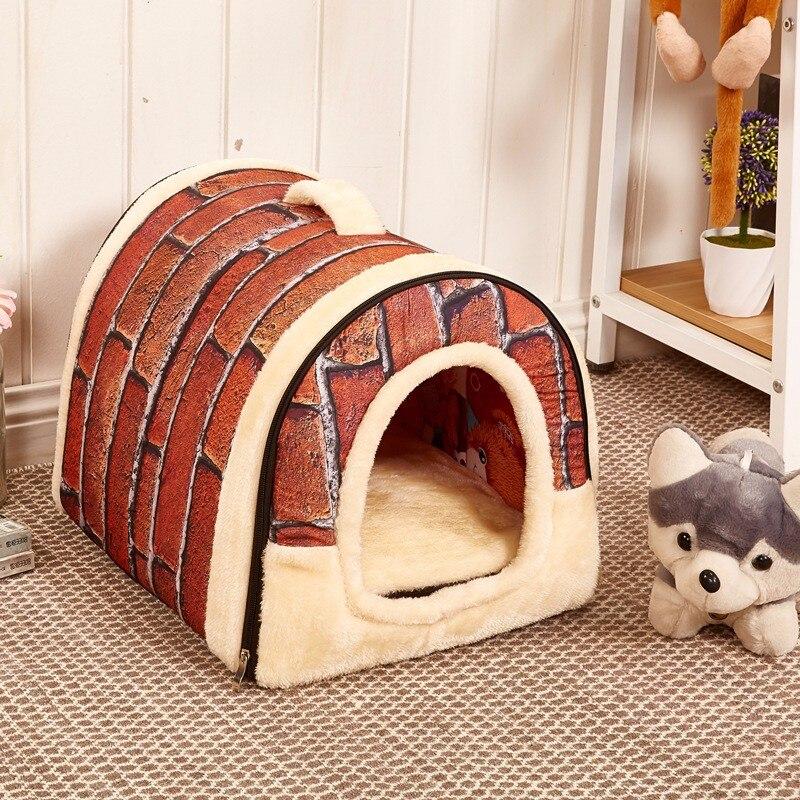 매트와 함께 다기능 개 집 둥지 Foldable 애완견 침대 고양이 침대 집 S M L 개 여행 애완 동물 침대 가방 무료 배송