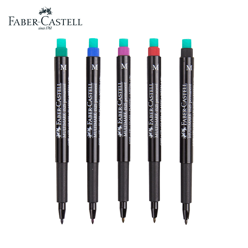 Faber castell 5 Pcs MULTIMARK fibre tip technical pen with Special eraser oil based colored Multimark on most surfaces ang 217 жикле в раме ангелы хранители дома 18х24