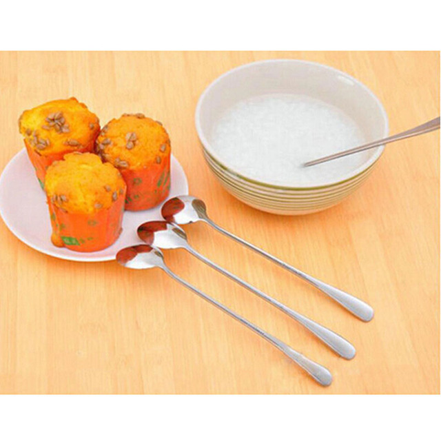 Dessert Spoon with Long Handle Made of Stainless Steel