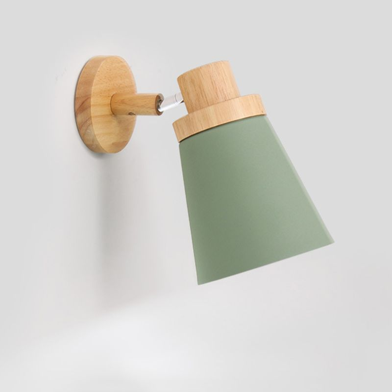 <font><b>Nordic</b></font> <font><b>Wall</b></font> <font><b>Lamp</b></font> Wooden Base Bedside Light Modern Macaroon Sconce Fixture image