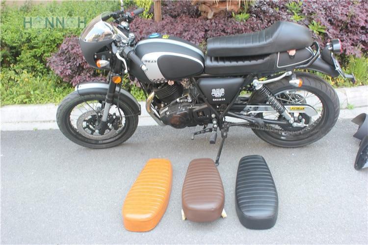 Siège de course de café de bosse de moto de couleur de 5 sortes pour Suzuki pour Honda pour Yamaha SR400 SR500 XS650 cuir imperméable d'unité centrale d'abs