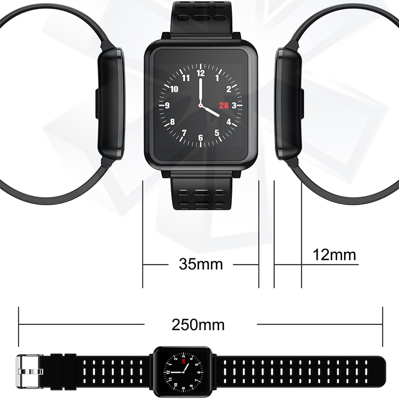 q8 smartwatch ip67 waterproof wearable device bluetooth. Black Bedroom Furniture Sets. Home Design Ideas