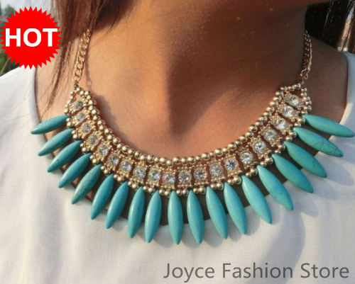 Min Order $10,Vintage Choker Necklaces,Punk Style Exaggerated Retro CharmsTassel Rhinestone Fashion Necklace 2013 For Women,N54