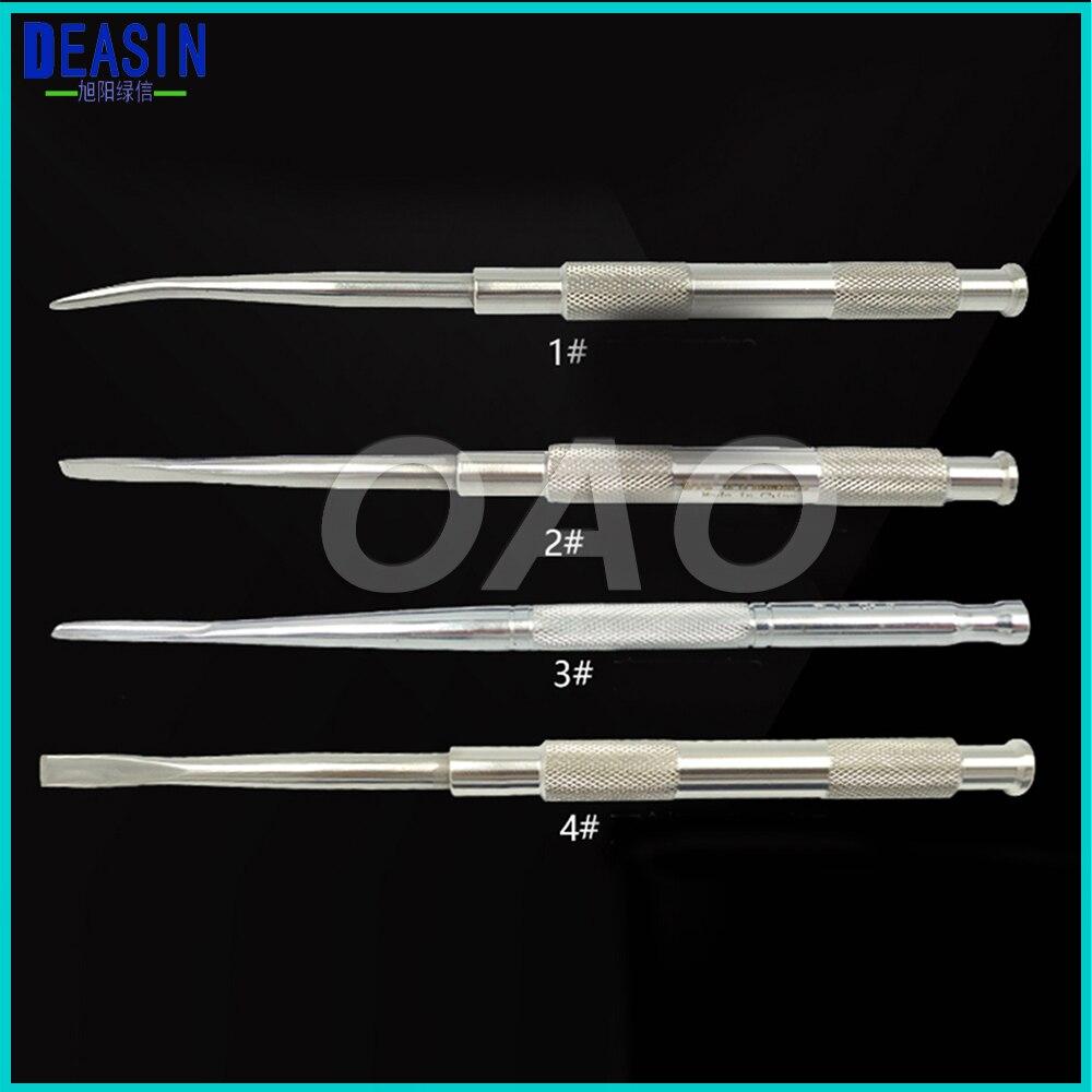 4 pièces Instruments d'implant dentaire outils outil dentaire acier inoxydable ciseau dentaire dent os couteau os ciseau